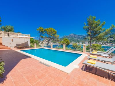 Photo for Villa on the seafront with unique views of the Port and Sóller