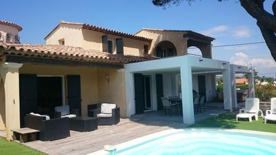 Photo for Villa with SWIMMING POOL in SEASIDE and SEA VIEW - for 10 PEOPLE