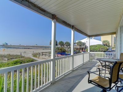Photo for Oceanfront Private Balcony & Easy Walk to Dntn Folly Beach