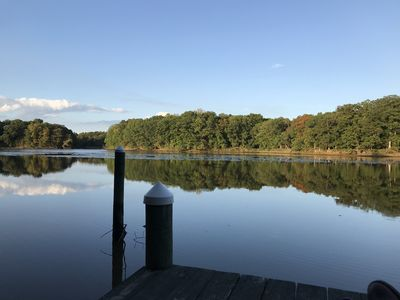 Photo for Contemporary waterfront house with private dock & kayaks!