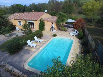 Photo for Lovely country house Lou Raï with private swimming pool and canoes near the river Argens
