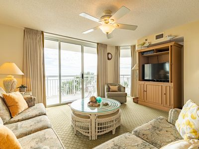 Photo for Indoor Pool Lazy River Hot tub OceanFront Rare 2Bed/Bath Crescent Shores #204