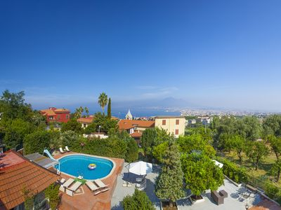 Photo for Villa Panorama with Sea View, Private Swimming Pool, Garden and Parking