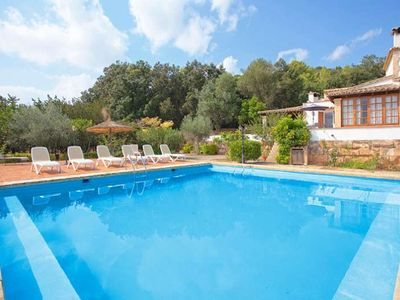 Photo for CAS PUTXER - Country house for 8 people in the interior of Mallorca. Private pool. Clear views. Table tennis. Satellite TV -81549- - Free Wifi