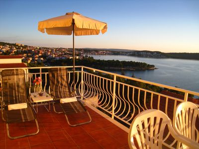 Photo for Trogir Yellow House A2, great location and fantastic sea view, private balcony