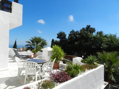 Photo for APPART 110 M2 + TERRACE 80 M2 FULL SOUTH - SEA VIEW ON THE HEIGHTS OF MARBE
