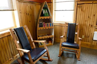 Relax in the great room, in classic Adirondack style!