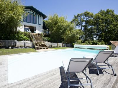 Photo for House w/ pool - 12 pers., quiet garden w/ stunning view on the BASQUE COUNTRY