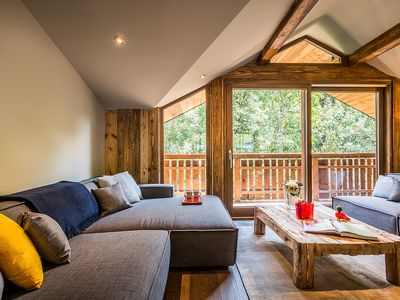 Photo for MOULIN II - Luxury chalet with private jacuzzi, ideally located, capacity of 8