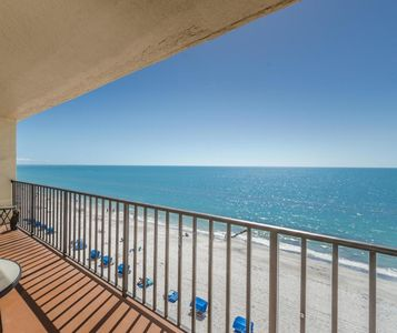 Majestic beach views from your private huge balcony.