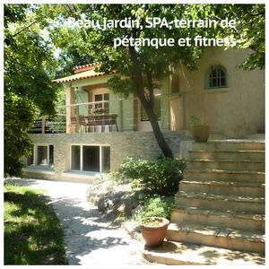Photo for Villa BEAUTIFUL 200M2 comfort with spa, fitness room, petanque and garden