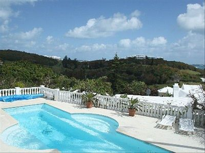 Pool and spacious pool deck, with spectacular views!