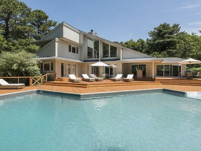 Photo for Long Island Contemporary Luxury 4 acres spread - Filled with Art and Tennis