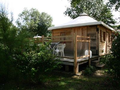Photo for Camping Isle Verte **** - Ecolodge Marinier Cabin 3 rooms for 4 people