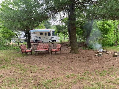 Main area and fire pit