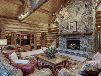 Photo for NEW! Pine Forest Lodge: Pet Friendly Log Home w/ Hot Tub, Pool Table, Theatre