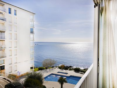 Photo for APARTMENT SEA VIEW, SWIMMING POOL WIFI AND PARKING