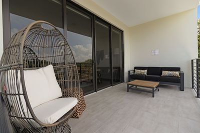 Enjoy the view from your balcony with a coffee in hand.
