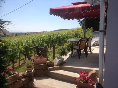 Photo for Exceptional in Riquewihr, panoramic view of the plain and vineyards