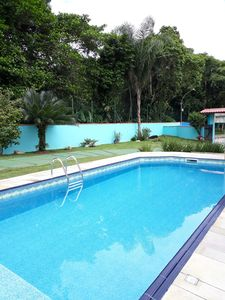 Photo for HOUSE ON THE BEACH OF THE BEACH BORACEIA BERTIOGA 3 SUITES C / AR SWIMMING POOL PARTIC. CHURRASQ
