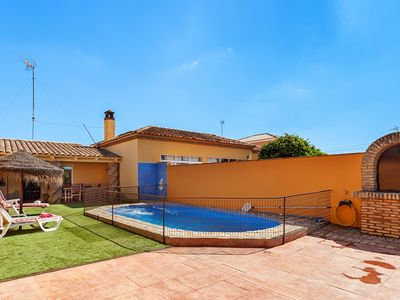 Photo for Air-Conditioned Home with Large Pool, Terrace, Garden & Wi-Fi; Pets Allowed, Parking Available