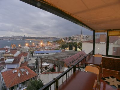 Photo for Bosphorus View Dream Terrace Duplex apartment in Üsküdar with WiFi, integrated air conditioning & p…