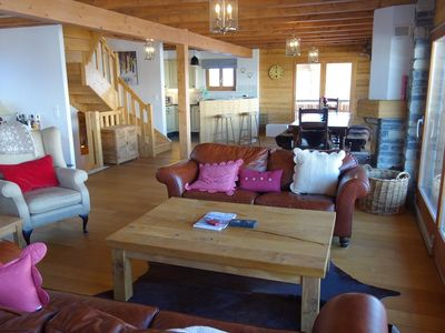 Photo for Luxury Chalet Hirondelle 6-room 5* with 5 bedrooms for 10 adults+2 children. Ground floor: entrace h