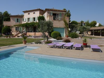 Photo for Large holiday villa in France on a golf course with private pool