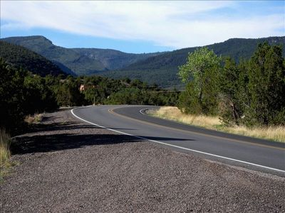 Approach on Highway 165 from Placitas