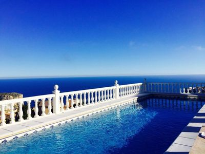 Photo for Fantastic villa with captivating sea views and stunning pool, WiFi