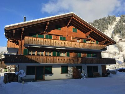 Photo for Apartment Chalet Lenk Dänk App. 6 in Lenk - 4 persons, 2 bedrooms