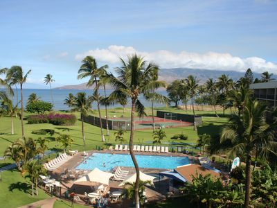 Photo for Picture yourself on Maui!  Unobstructed views of ocean, pool, and palm trees