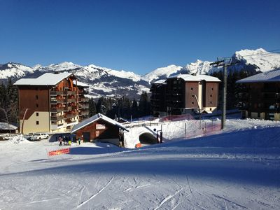 Photo for Apartment sleeps 7 adult + 1 cot ideal family - Ski in ski out