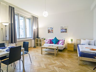 Photo for Bright 2BR apartment, 10 min walk from Old Town Square