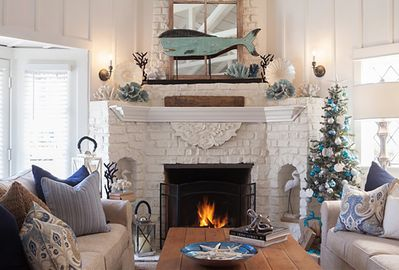 Family Room at Christmas Time!
