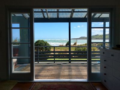 Photo for Classic Kiwi Bach with stunning Ocean views