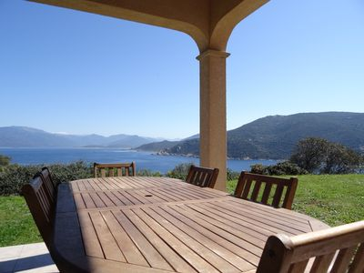 Photo for Villa with stunning sea views, 3/4 bedrooms, 6 minutes from the beach on foot.