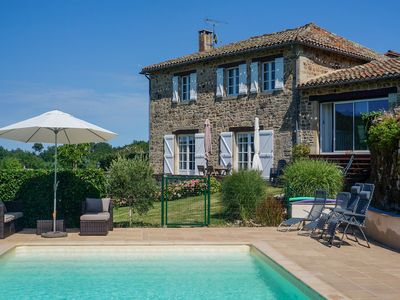 Photo for Gorgeous Holiday Home in Saint-Beauzile with Private Pool