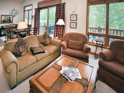 Photo for This Vail Vacation home is located on the town of Vail`s shuttel to Vail Village