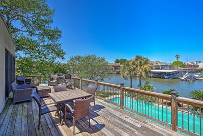 Located in Montgomery, Texas, this home has a direct view of Lake Conroe!
