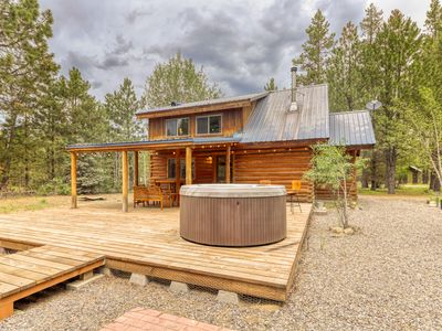Photo for Serene, dog-friendly log cabin surrounded by trees w/ a private hot tub