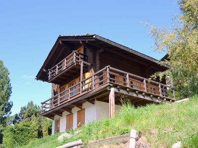 Photo for Outside : chalet for 8 persons, balcony and terrace -Inside : 110 sqm, entrance hall, living with co