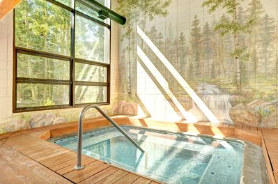 Enjoy the amazing and chic indoor hot tub!