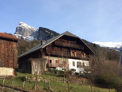 Photo for 1 bedroom apartment in farmhouse in centre of Samoëns