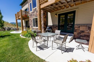 Back Patio: Furniture  & Gas Grill