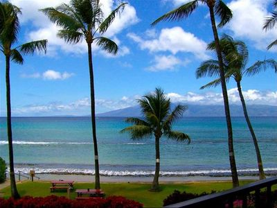 Photo for SPRING INTO BEAUTIFUL MAUI-BINOCULARS NOT NEEDED!, DIRECT Ocean Front, 2bd/2bath
