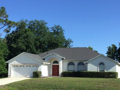 Photo for Fall Special! Only $80/nt! Disney 4 bedroom pool home, 2 masters