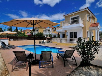 Photo for Villa Katadromon is stunning 4 bedroom luxury villa in the heart of Coral Bay, is a place for friend