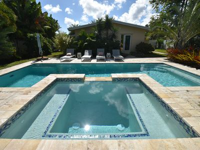 Photo for $195+ luxury oasis for 6 with pool, 3 mi. to beach