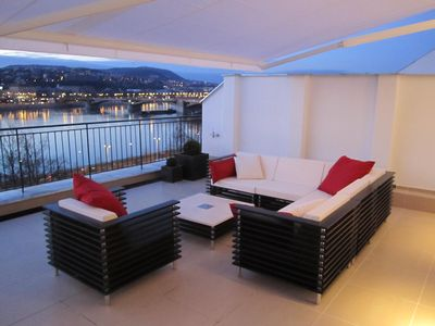 Photo for City penthouse with unique view over the Danube and the mountains of Budapest